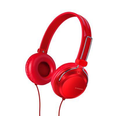 XO Słuchawki przewodowe S32 jack 3,5mm czerwone nauszne