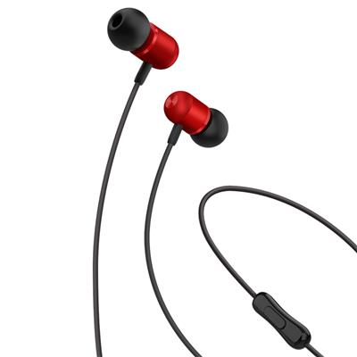 XO Słuchawki przewodowe EP5 jack 3,5mm czerwone