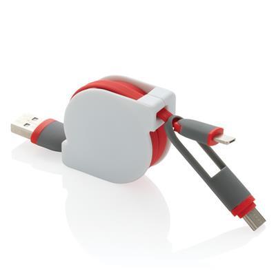 Zwijany kabel do ładowania i synchronizacji 3 w 1
