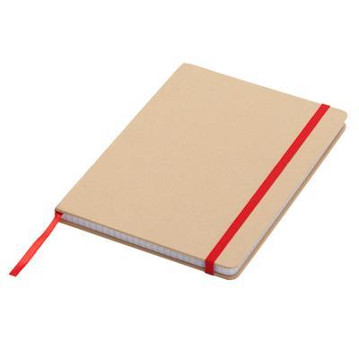 Notatnik 145x210/80k kratka Lisboa, czerwony/beżowy
