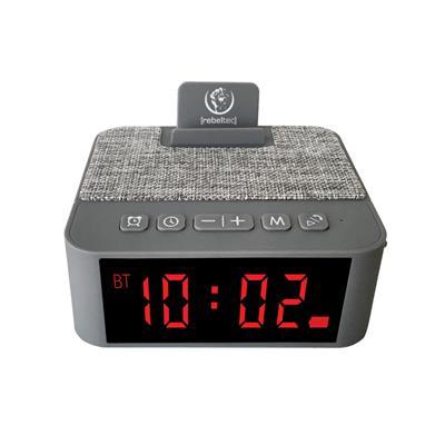 REBELTEC głośnik z budzikiem SoundClock 120 szary