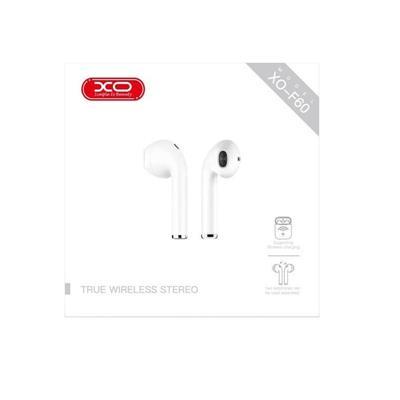 XO Słuchawki bluetooth F60 TWS białe
