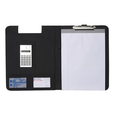 Podkładka do pisania, teczka konferencyjna, notatnik, kalkulator