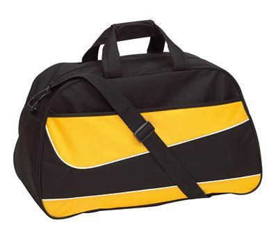Torba sportowa, PEP, czarny/żółty