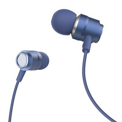 XO Słuchawki przewodowe EP6 jack 3,5mm niebieskie