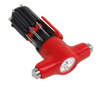 Zestaw śrubokrętów, 9in1, SCREWDRIVER, czerwony/czarny-598005