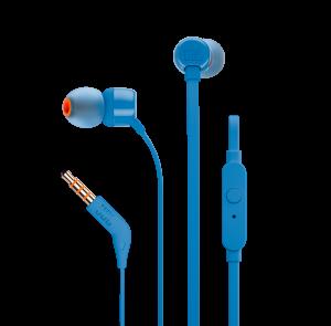 JBL słuchawki przewodowe douszne z mikrofonem T110 niebieskie
