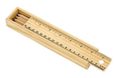 Zestaw kredek, 8 szt, STAIGHT, drewniany