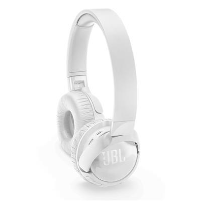 JBL słuchawki bezprzewodowe nauszne z redukcją szumów T600BT NC białe