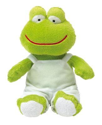Żaba pluszowa, FRED, zielony/biały