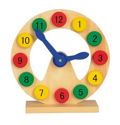 Zegar do zabawy COLOURED TIME, wielokolorowa