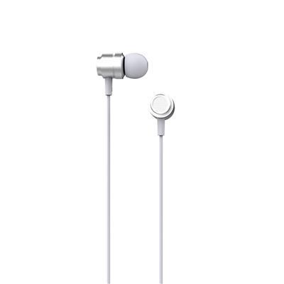 XO Słuchawki przewodowe EP6 jack 3,5mm srebrne