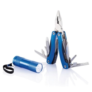 Zestaw narzędzi, narzędzie wielofunkcyjne i latarka