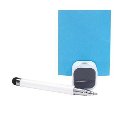 Długopis z czyścikiem do ekranów, SCREEN CLEAN, biały-600235