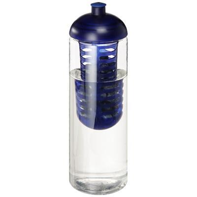 Butelka H2O Vibe z wypukłym wieczkiem o pojemności 850 ml i zaparzaczem