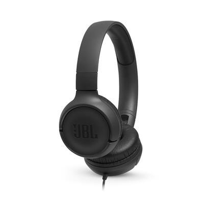 JBL słuchawki przewodowe nauszne T500  czarne