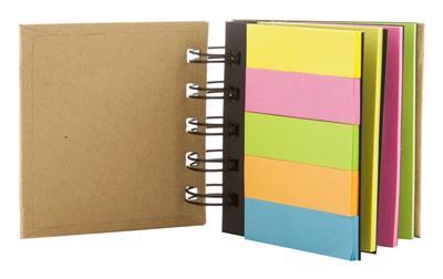 notatnik z karteczkami samoprzylepnymi Laska