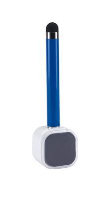 Długopis z czyścikiem do ekranów, SCREEN CLEAN, niebieski-600238