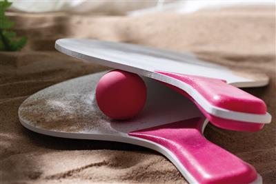 Zestaw plażowy, SUMMER FEELING, biały/różowy-599380