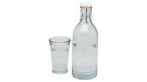 Karafka na wodę wraz ze szklanką
