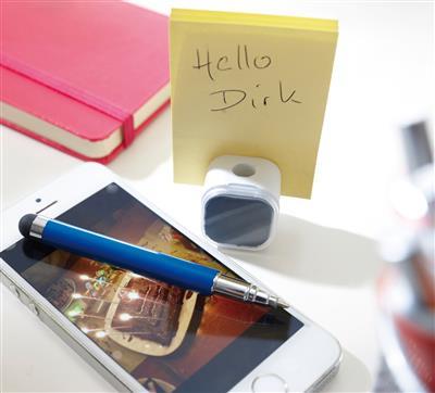 Długopis z czyścikiem do ekranów, SCREEN CLEAN, niebieski-600242