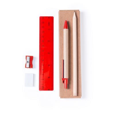 Zestaw szkolny, ołówek, długopis, gumka, temperówka, linijka-702859