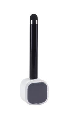 Długopis z czyścikiem do ekranów, SCREEN CLEAN, czarny-600236