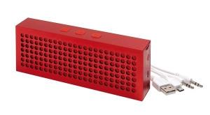 Głośnik Bluetooth BRICK, czerwony
