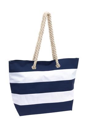 Torba plażowa, SYLT, niebieski/biały