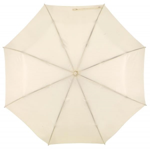 Składany parasol ORIANA, jasnobeżowy-597067