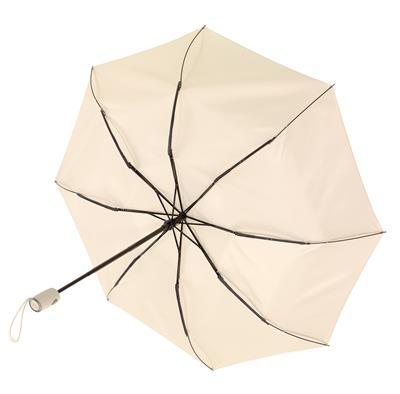 Składany parasol ORIANA, jasnobeżowy-597069
