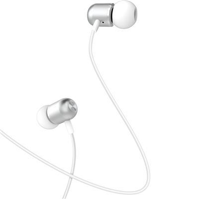 XO Słuchawki przewodowe EP5 jack 3,5mm srebrne