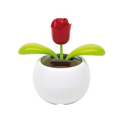 Kwiatek na baterię słoneczną, WAVING, biały