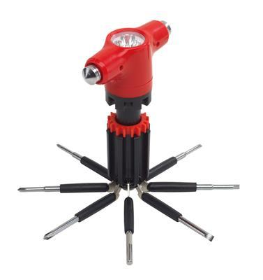 Zestaw śrubokrętów, 9in1, SCREWDRIVER, czerwony/czarny-598007