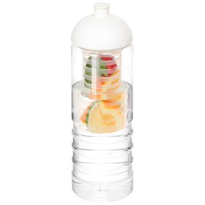 Butelka H2O Treble z wypukłym wieczkiem o pojemności 750 ml i zaparzaczem