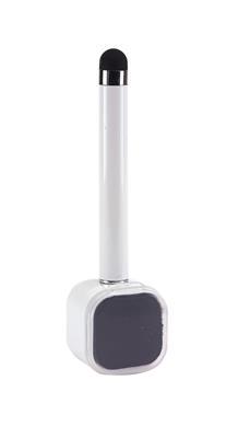 Długopis z czyścikiem do ekranów, SCREEN CLEAN, biały-600234