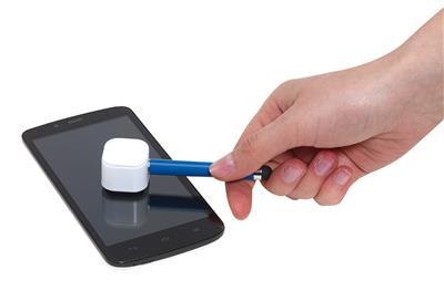 Długopis z czyścikiem do ekranów, SCREEN CLEAN, niebieski-600241