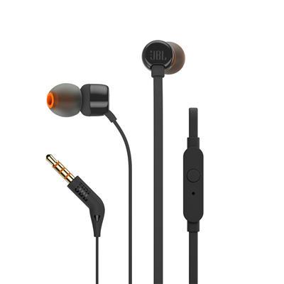 JBL słuchawki przewodowe douszne z mikrofonem T110 czarne