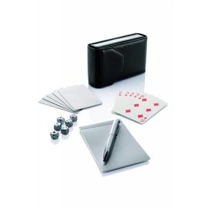 Zestaw gier, karty, sudoku, kości, długopis, notatnik-484308