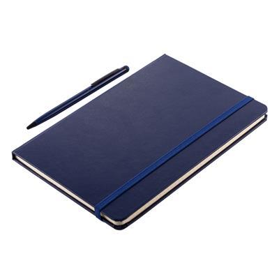 Zestaw notes z długopisem Abrantes, granatowy