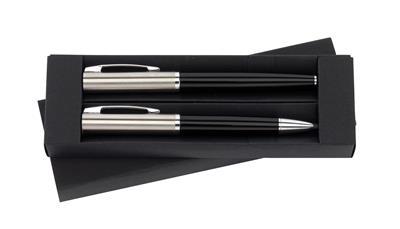 Zestaw piśmienniczy, BLACK SWAN, czarny/srebrny