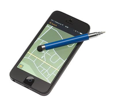 Długopis z czyścikiem do ekranów, SCREEN CLEAN, niebieski-600240
