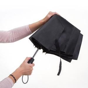 Składany parasol sztormowy Vernier, czarny-547916