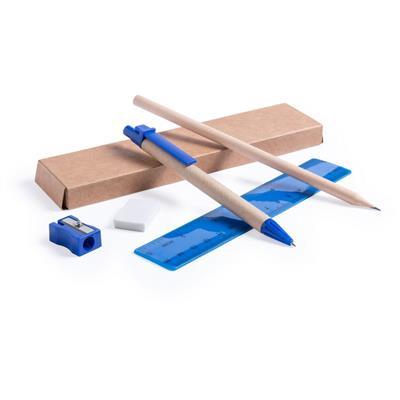 Zestaw szkolny, ołówek, długopis, gumka, temperówka, linijka