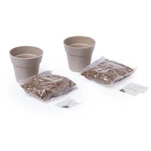 Zestaw ziołowy, 2 doniczki i nasiona