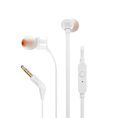 JBL słuchawki przewodowe douszne z mikrofonem T110 białe