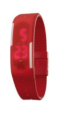 Zegarek na rękę, IN TIME, czerwony