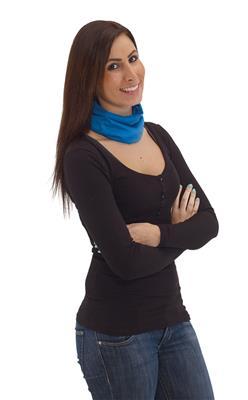 Wielofunkcyjne nakrycie głowy, TRENDY, niebieski-599545