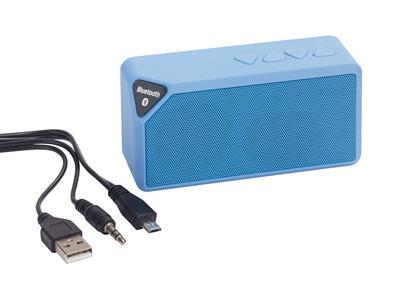 Głośnik bluetooth, CUBOID, niebieski