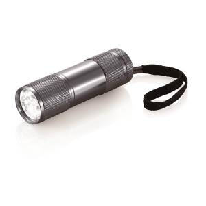 Latarka 9 LED, pasek na rękę